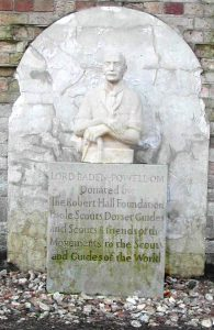 Bust of BP that an be found outside the Castle Walls on Brownsea Island